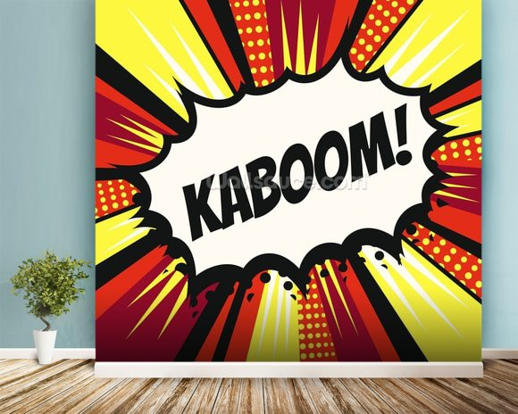 Pop Art   Kaboom Wall Mural Room Setting Part 13