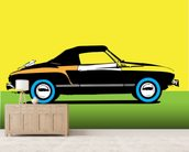 Pop Art - Car mural wallpaper living room preview