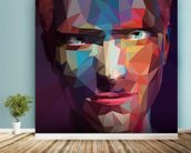 Pop Art Portrait Abstract wall mural in-room view