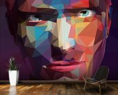 Pop Art Portrait Abstract wall mural kitchen preview
