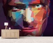 Pop Art Portrait Abstract wall mural living room preview
