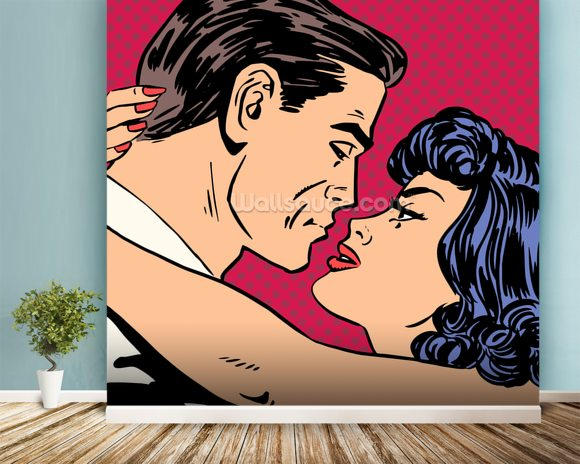 Pop Art   Kiss Wall Mural Room Setting Part 72