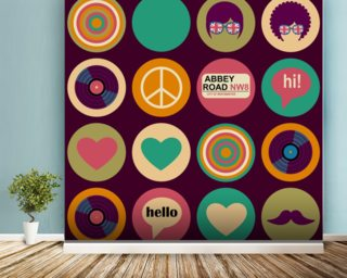 Pop Art   British Musical Pattern Wall Mural Part 50