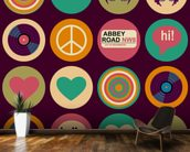 Pop Art - British Musical Pattern wallpaper mural kitchen preview
