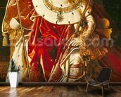 Napoleon I (1769-1821) on the Imperial Throne, 1806 (oil on canvas) wallpaper mural kitchen preview