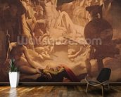 The Dream of Ossian, 1813 (oil on canvas) mural wallpaper kitchen preview
