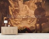 The Dream of Ossian, 1813 (oil on canvas) mural wallpaper living room preview
