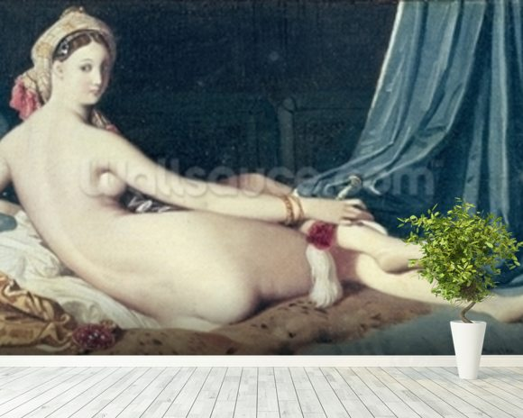 Odalisque, 1814 (oil on canvas) wall mural room setting