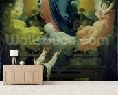 The Vow of Louis XIII (1601-43) 1824 (oil on canvas) mural wallpaper living room preview