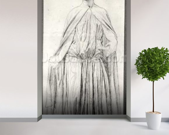 St. Adelaide, 1842 (graphite) (b/w photo) mural wallpaper room setting