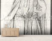 St. Adelaide, 1842 (graphite) (b/w photo) mural wallpaper living room preview