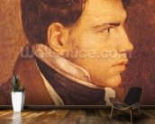 Portrait of a Young Man (oil on canvas) mural wallpaper kitchen preview
