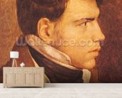 Portrait of a Young Man (oil on canvas) mural wallpaper living room preview