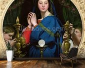 The Virgin of the Host, 1854 (oil on canvas) wall mural kitchen preview
