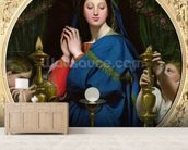 The Virgin of the Host, 1854 (oil on canvas) wall mural living room preview