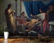 Virgil Reading the Aeneid to Livia, Octavia and Augustus, c.1812 (oil on canvas) wallpaper mural kitchen preview