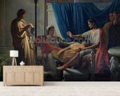 Virgil Reading the Aeneid to Livia, Octavia and Augustus, c.1812 (oil on canvas) wallpaper mural living room preview