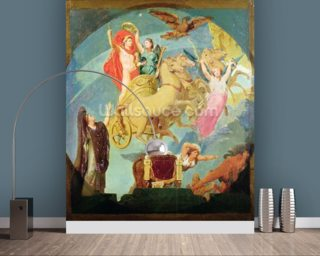 Apotheosis of Napoleon I (1769-1821) 1853 (oil on canvas) (see 429032 for detail) wall mural