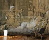Odalisque with a Slave, 1858 (graphite & wash on paper heightened with white) wallpaper mural kitchen preview