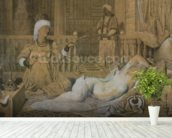 Odalisque with a Slave, 1858 (graphite & wash on paper heightened with white) wallpaper mural in-room view