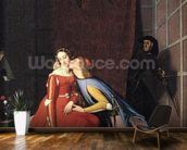 Francesca da Rimini and Paolo Malatesta, 1819 (oil on canvas) mural wallpaper kitchen preview