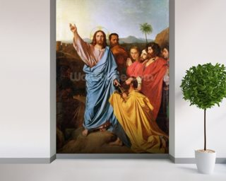 Jesus Returning the Keys to St. Peter, 1820 (oil on canvas) wall mural