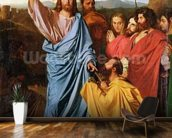 Jesus Returning the Keys to St. Peter, 1820 (oil on canvas) wall mural kitchen preview