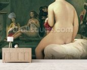 The Little Bather in the Harem, 1828 (oil on canvas) wallpaper mural living room preview