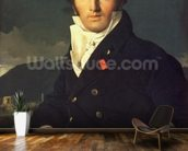 Portrait of Charles Cordier (1777-1870) 1811 (oil on canvas) mural wallpaper kitchen preview