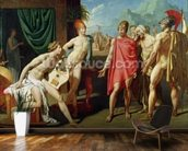 Ambassadors Sent by Agamemnon to Urge Achilles to Fight, 1801 (oil on canvas) mural wallpaper kitchen preview