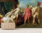 Ambassadors Sent by Agamemnon to Urge Achilles to Fight, 1801 (oil on canvas) mural wallpaper living room preview