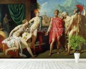 Ambassadors Sent by Agamemnon to Urge Achilles to Fight, 1801 (oil on canvas) mural wallpaper in-room view