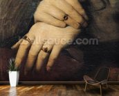 Study of a Womans Hands, after the portrait of Maddalena Doni by Raphael (oil on canvas) wall mural kitchen preview