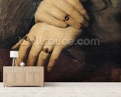 Study of a Womans Hands, after the portrait of Maddalena Doni by Raphael (oil on canvas) wall mural living room preview
