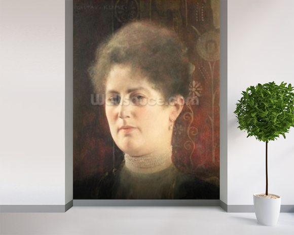 Portrait of a lady wall mural room setting