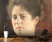 Portrait of a lady wall mural kitchen preview