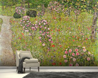 Orchard with roses (Obstgarten mit Rosen) wallpaper mural