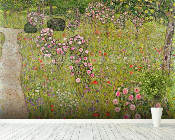 Orchard with roses (Obstgarten mit Rosen) wallpaper mural room setting