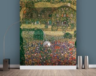 Country House by the Attersee, c.1914 (oil on canvas) mural wallpaper