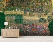 Country House by the Attersee, c.1914 (oil on canvas) mural wallpaper living room preview