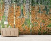 The Birch Wood, 1903 (oil on canvas) wall mural living room preview