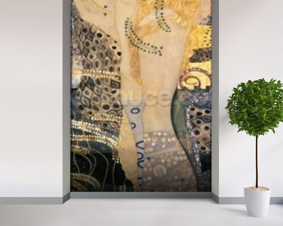 Water Serpents I, 1904-07 (oil on canvas) wallpaper mural room setting