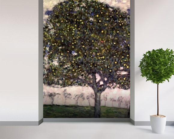 Klimt gustav the apple tree ii wall mural for Apple tree mural