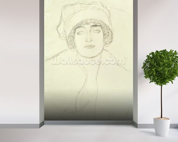 Portrait of a Young Woman wall mural room setting