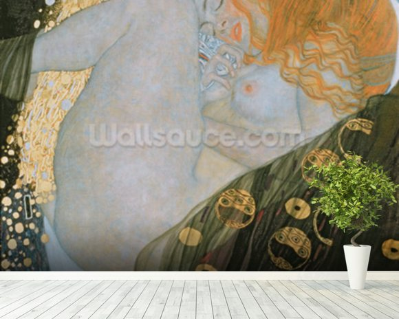 Danae, 1907-08 (oil on canvas) wallpaper mural room setting