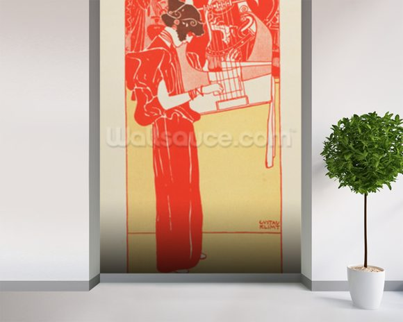 Musik (lithograph) wall mural room setting