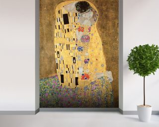 The Kiss, 1907-08 (oil on canvas) Wallpaper Wall Murals