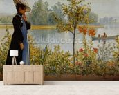 Indian Summer wallpaper mural living room preview