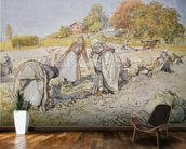 Digging Potatoes, 1905 wallpaper mural kitchen preview