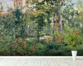 The Garden at Bellevue, 1880 (oil on canvas) wallpaper mural in-room view